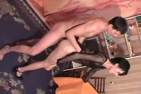 CD In Fishnet Likes ass sex